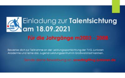 Einladung zur TVG Junioren Talentsichtung
